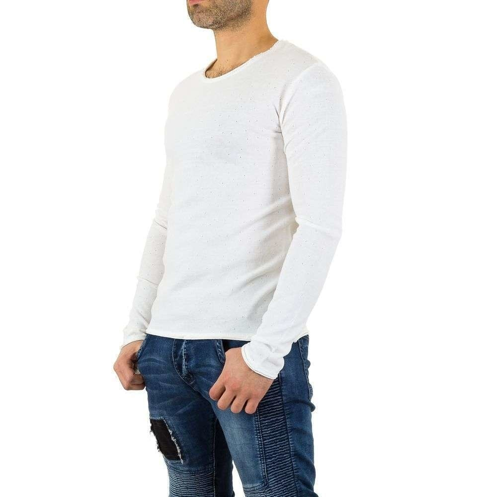 Pánske tričká s dlhým rukávom EU shp-tr1015wh
