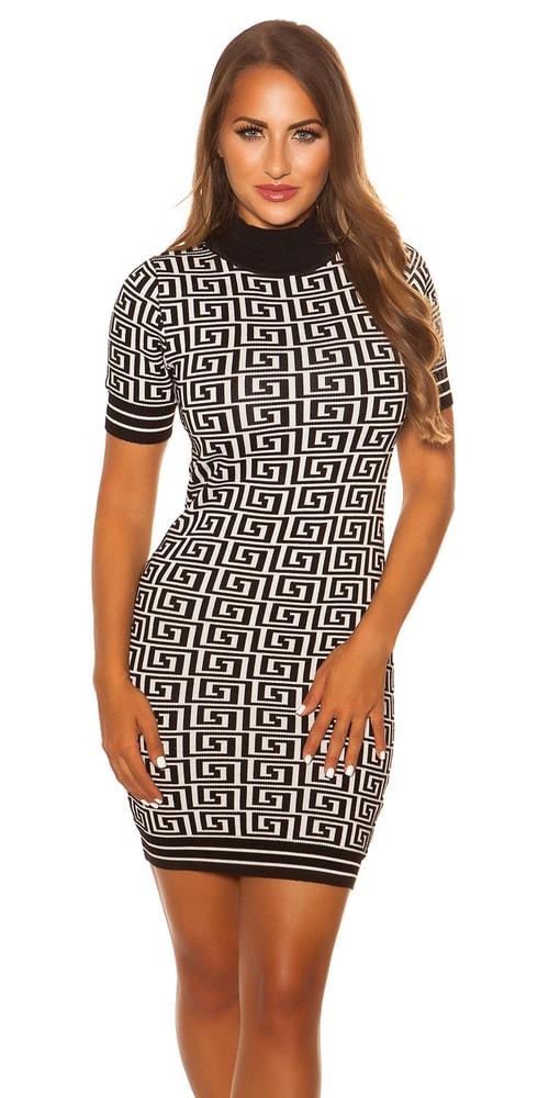Úpletové dámské šaty Koucla in-sat2072wh