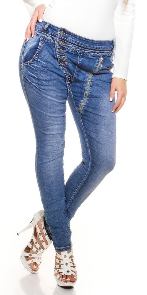Dámske modré džínsy - 42 Koucla in-ri1307