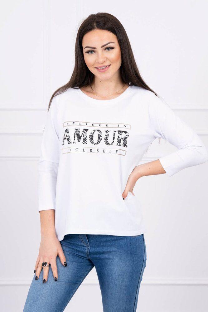 Dámské bílé tričko Kesi ks-tr0057wh