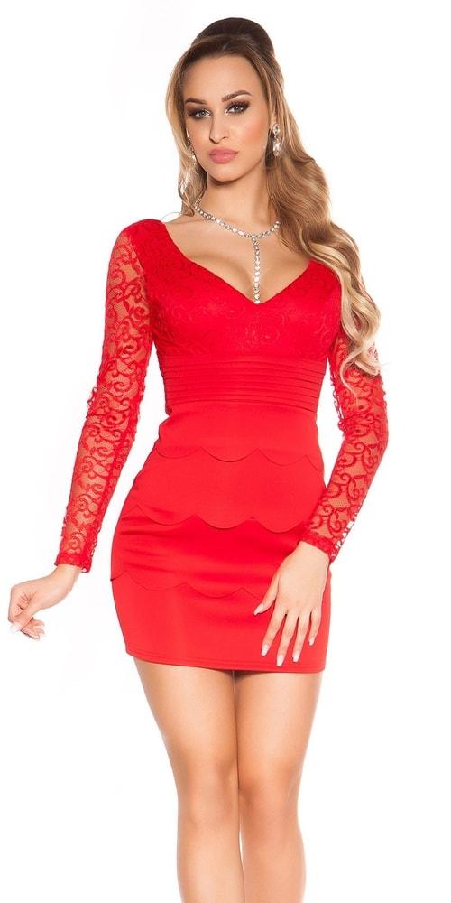 Dámske šaty červené - 38 Koucla in-sat1277re