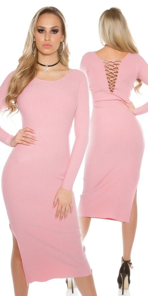 Dámske dlhší ružové šaty Koucla in-sat1436spi