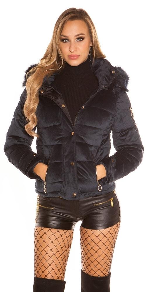 Zimná bunda s kapucňou Koucla in-bu1018tm