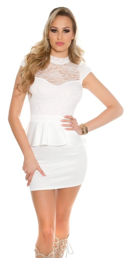 Dámske biele šaty - S Koucla in-sat1440wh