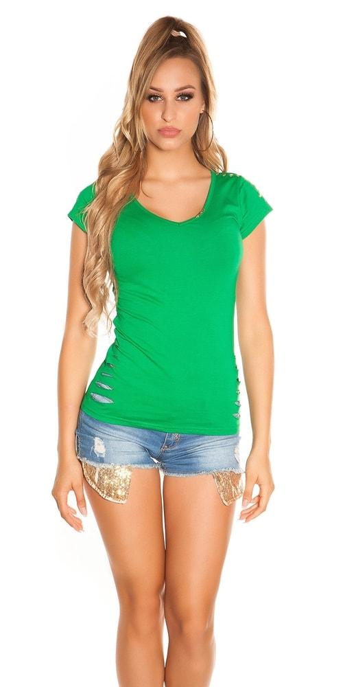 Letní dívčí triko-zelené Koucla in-tr1113ze