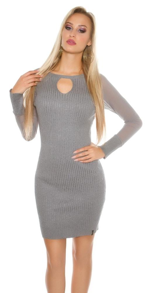Úpletové dámske šaty Koucla in-sat1452gr