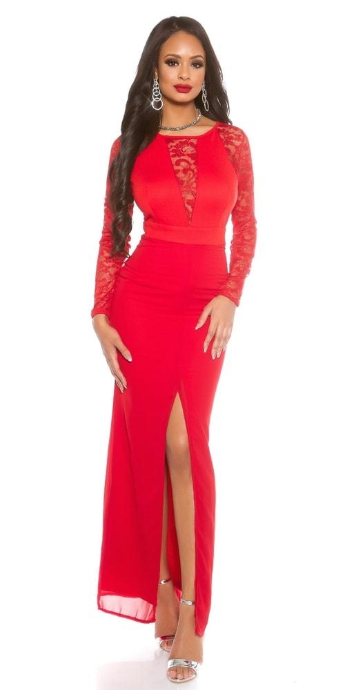 Dámske červené večerné šaty Koucla in-sat1421re