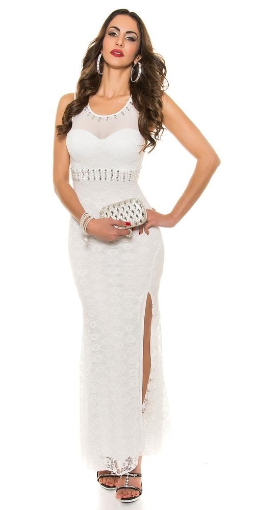 Elegantné plesové šaty - L Koucla in-sat1207wh