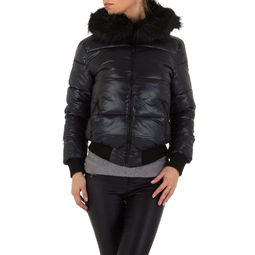 Čierna bunda dámska - XL shd-bu1002bl