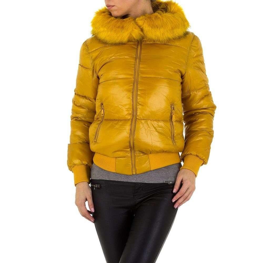 Žlutá bunda dámská shd-bu1002se