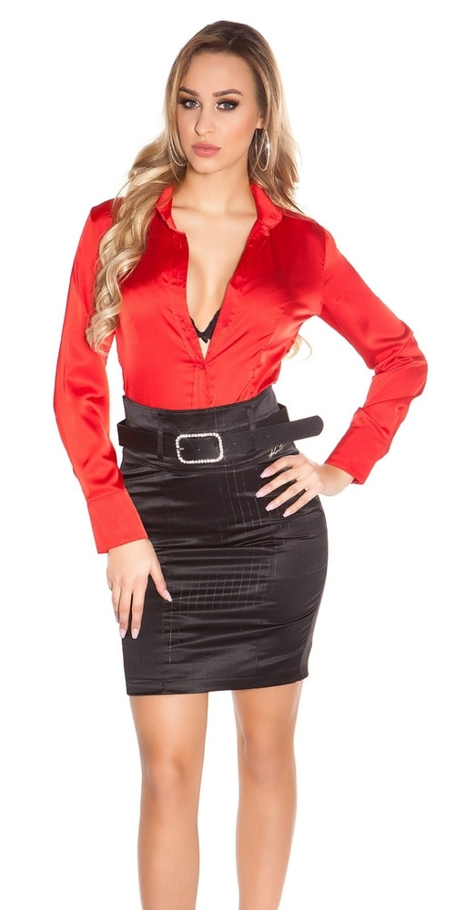 Dámska sukňa s opaskom - 40 Koucla in-su1095bl