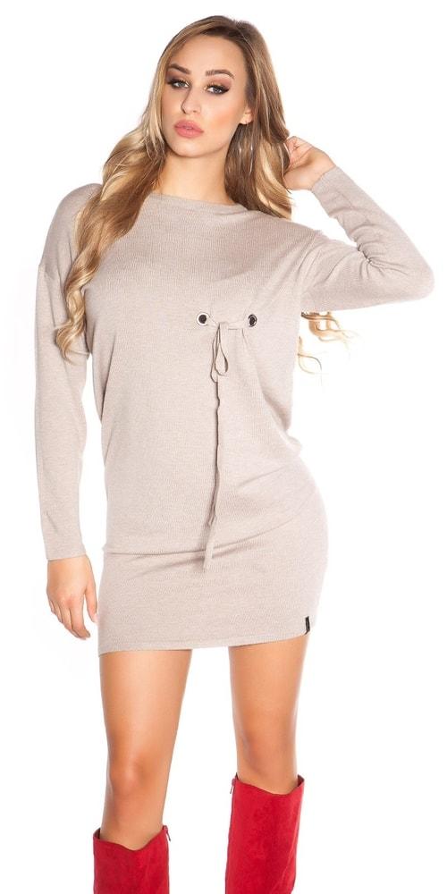 Úpletové dámské mini šaty Koucla in-sat1695be