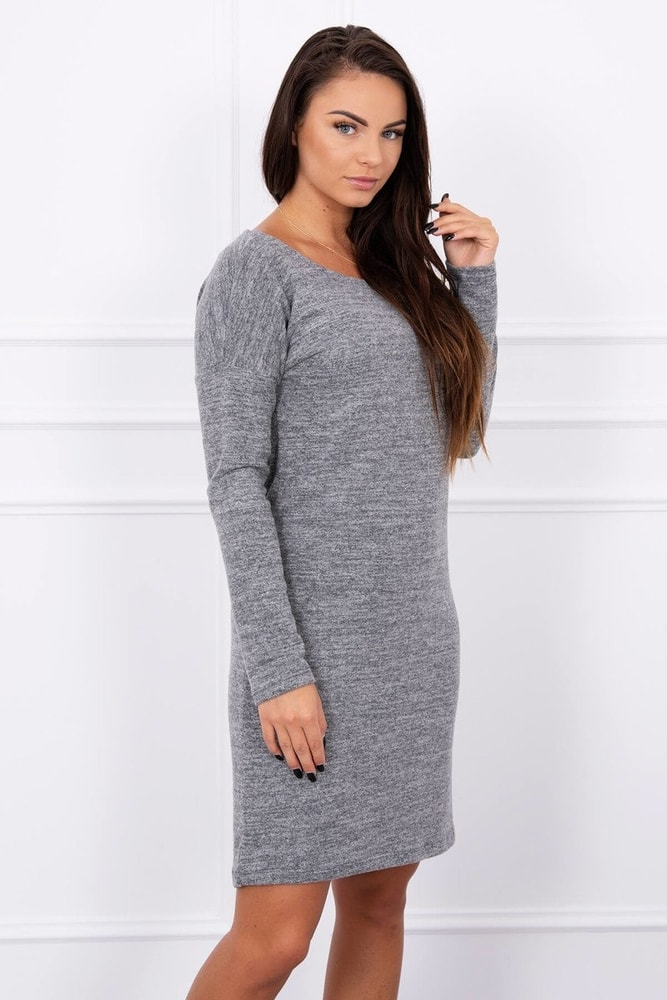 Úpletové dámské šaty Kesi ks-sa8945gr