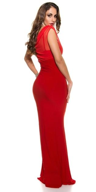 c8d22d30b12d Plesové šaty červené - II. jakost - Koucla - Dlhé plesové šaty -  vasa-moda.sk