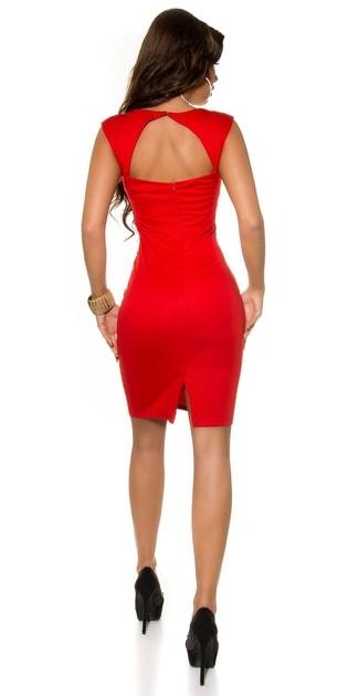 7d7491bfed5a Červené koktejlové šaty - Koucla - Večerné šaty a koktejlové šaty -  vasa-moda.sk