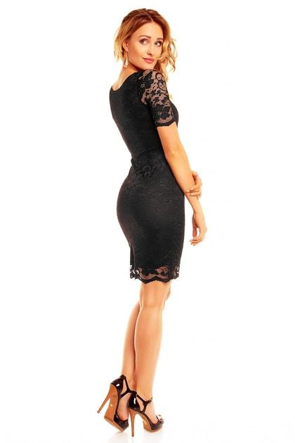49c89425fa39 Čierne večerné šaty - Mayaadi - Večerné šaty a koktejlové šaty - vasa -moda.sk