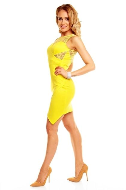 02f637d80750 Žlté dámske šaty - Graffith - Večerné šaty a koktejlové šaty - vasa-moda.sk