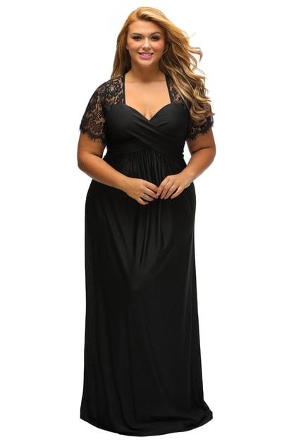 cb2f8566bb2c Plesové šaty plus size - DAMSON - Spoločenské šaty pre plnoštíhle - vasa -moda.sk