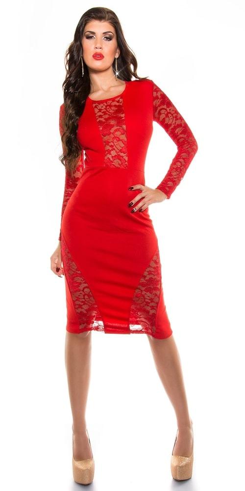 5fb92bbf04fd Červené šaty s čipkou - Koucla - Večerné šaty a koktejlové šaty ...
