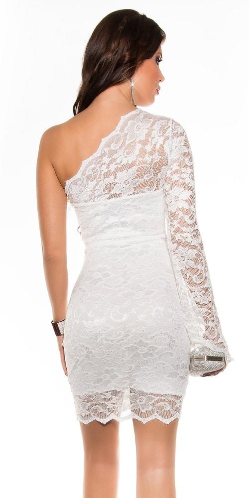 b8aea1fd0d78 Biele čipkované šaty - Koucla - Večerné šaty a koktejlové šaty ...