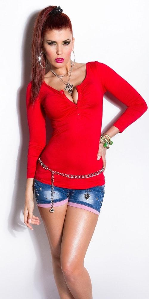97dd168a1f41 Červené dámske tričko - Koucla - Dámske tričká - vasa-moda.sk