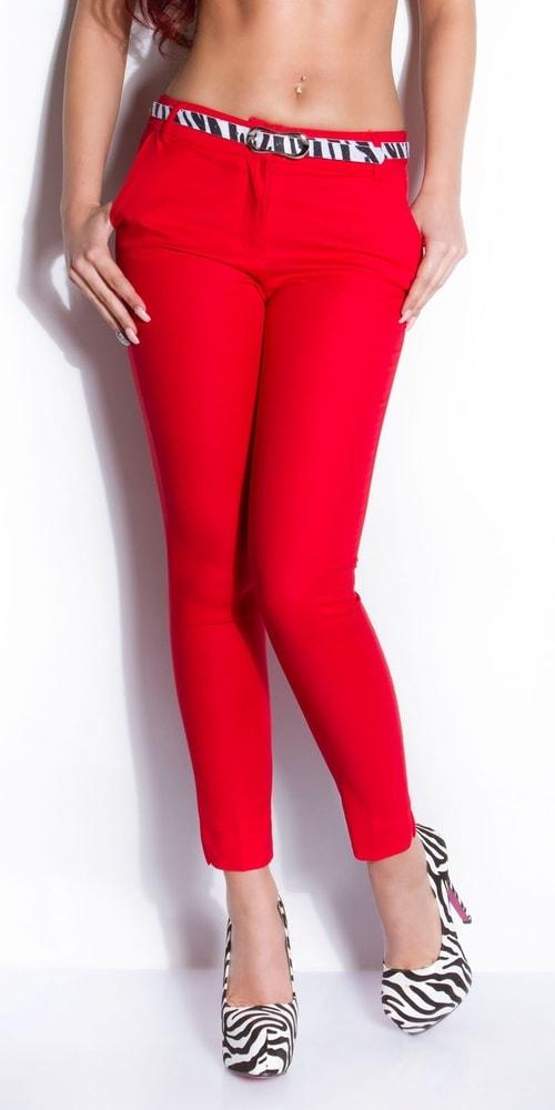 166ea5416c3e Červené dámske nohavice s opaskom - Koucla - Dámske nohavice - vasa ...