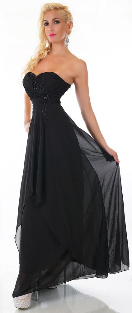 75993e5b729e Čierne dlhé šaty - EU - Večerné šaty a koktejlové šaty - vasa-moda.sk
