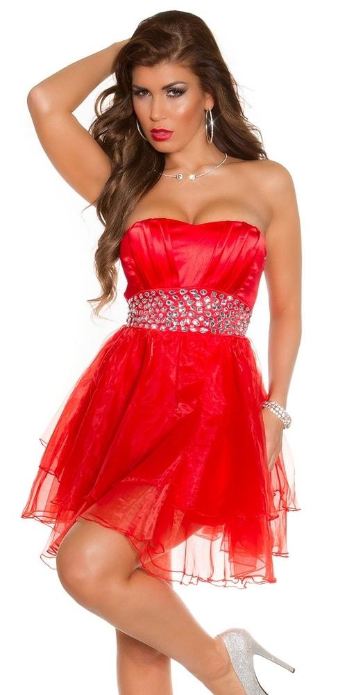 042fa7319717 Plesové šaty krátké červené - Koucla - Večerní šaty a koktejlové ...