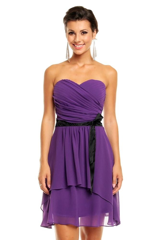 2fe457f605a7 Spoločenské šaty fialové - Mayaadi - Večerné šaty a koktejlové šaty ...