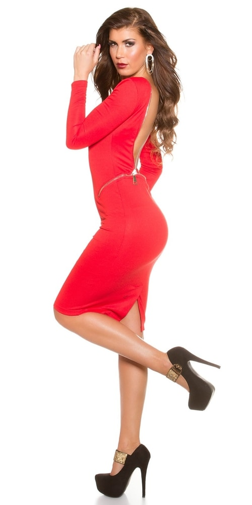 b0d13b865102 Červené spoločenské šaty - Koucla - Puzdrové šaty - vasa-moda.sk