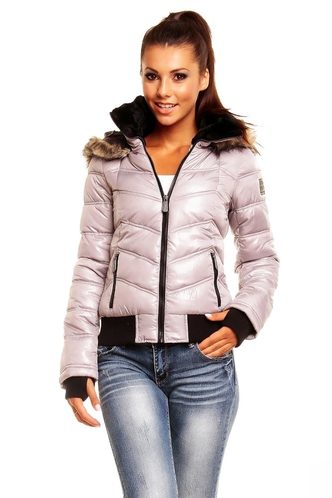 912ab355d275 Zimná dámska bunda - sivá - Sublevel - Bundy dámske zimné - vasa ...