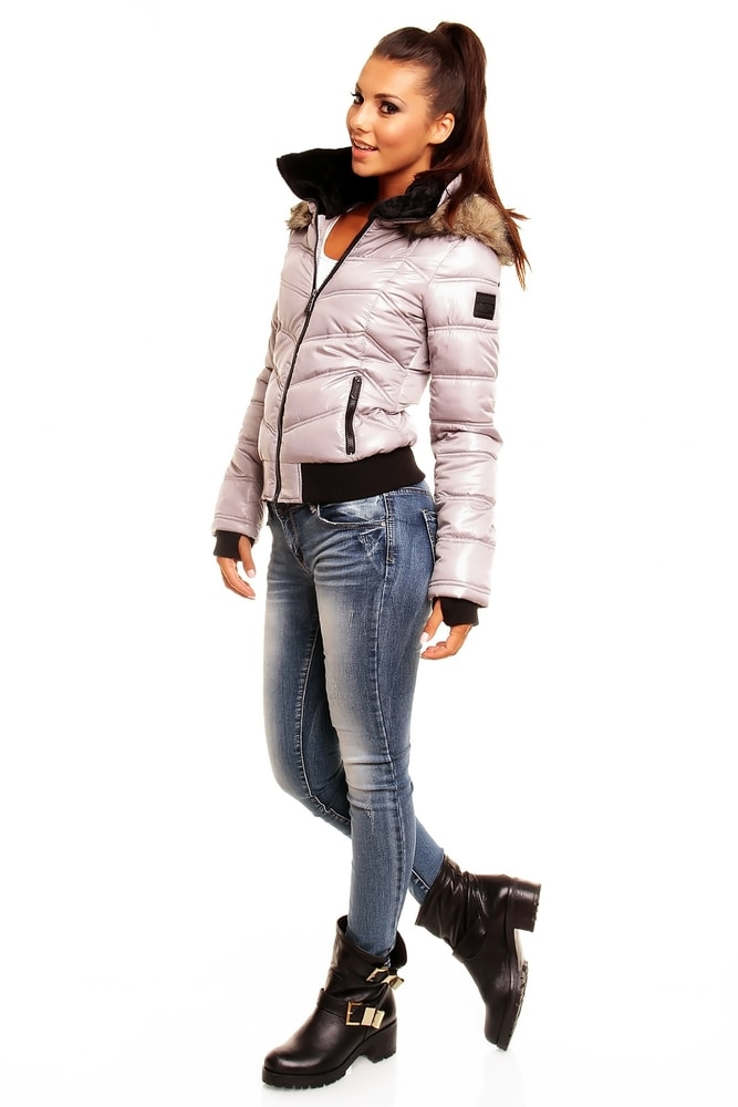 f72ac77bb6ba Zimná dámska bunda - sivá - Sublevel - Bundy dámske zimné - vasa-moda.sk