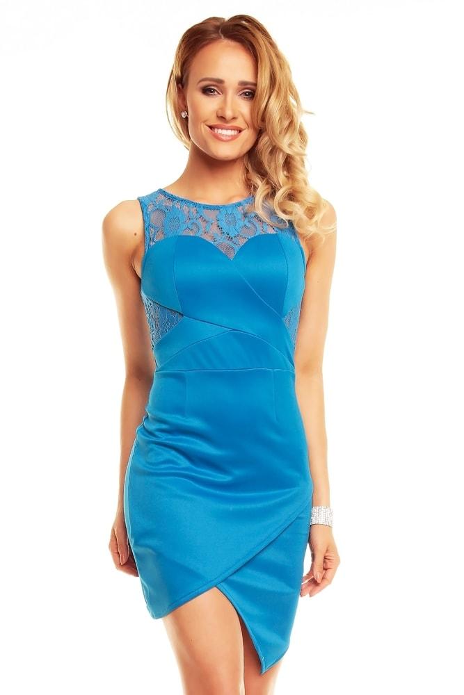 58c0aefa0541 Modré spoločenské šaty - EU - Krátke letné šaty - vasa-moda.sk