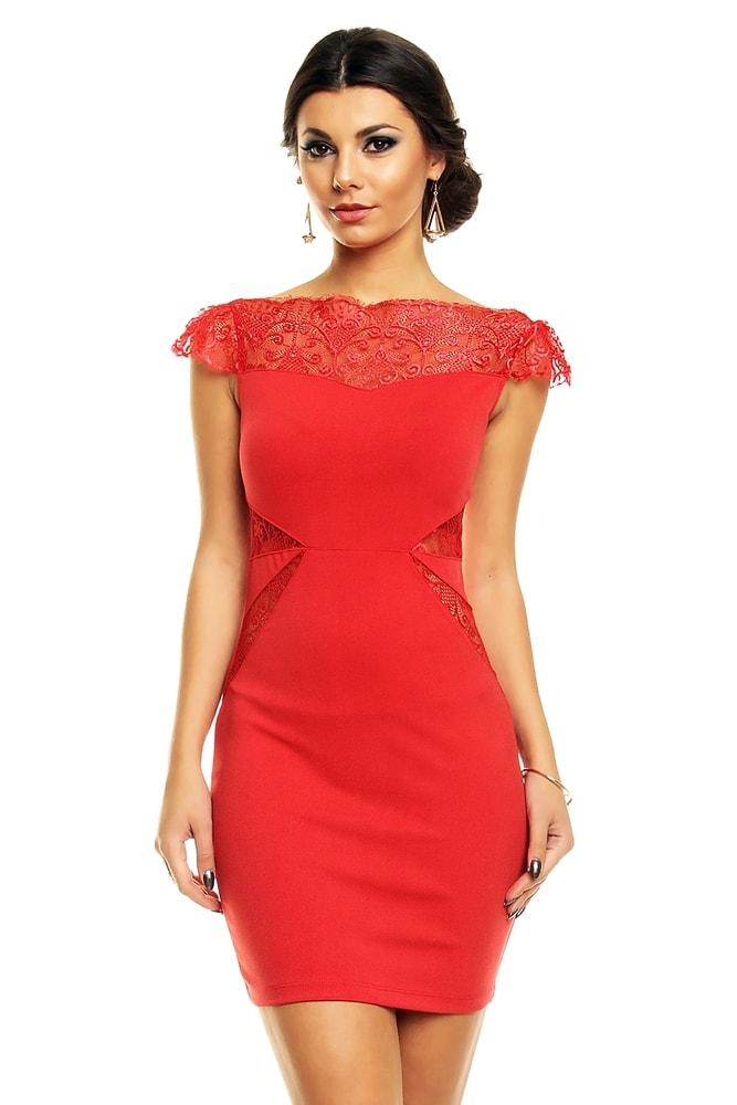 102565c11ea7 Červené elegantné šaty - EU - Večerné šaty a koktejlové šaty - vasa ...