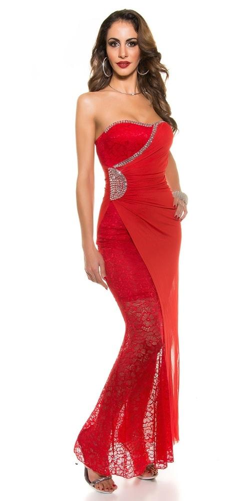 359bb86c0521 Červené plesové šaty - Koucla - Večerné šaty a koktejlové šaty ...