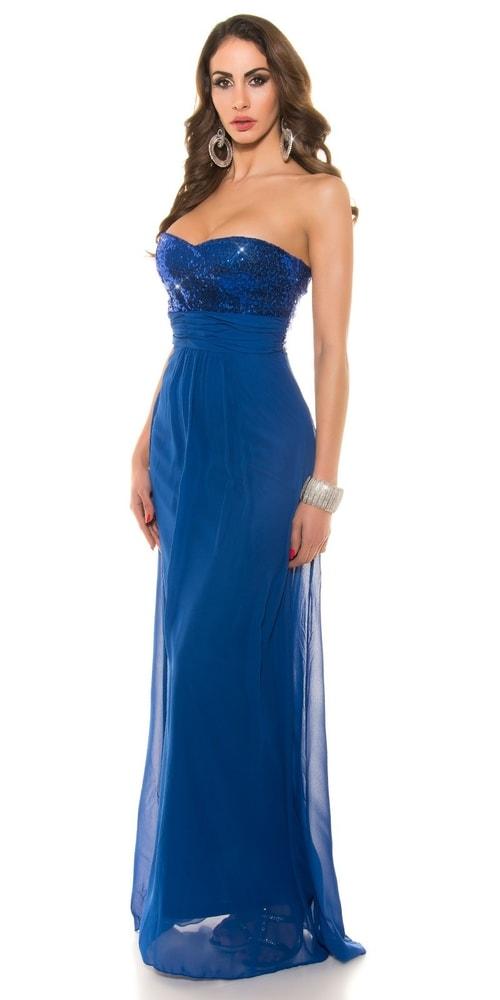 8d00ba4957f6 Dlouhé plesové šaty modré - Koucla - Dlouhé plesové šaty - i-moda.cz