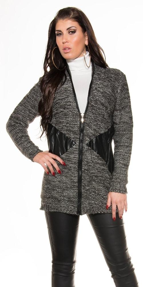 c4e75aa019e9 Dámsky sveter so zipsom - Koucla - Cardigany dámske - vasa-moda.sk