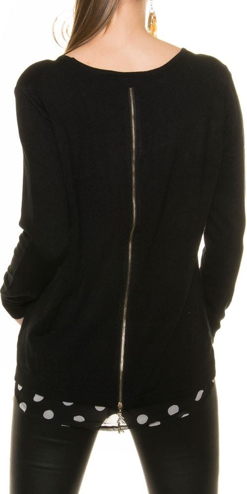 4e797d574808 Dámsky sveter so zipsom - Koucla - Dámske svetre - vasa-moda.sk