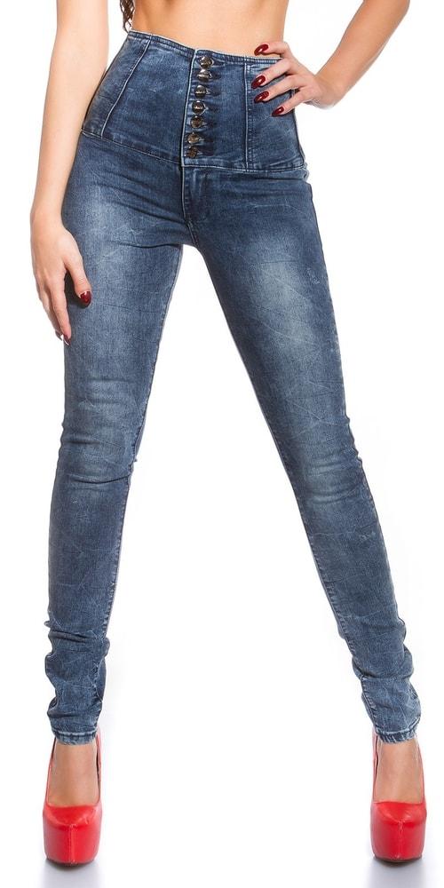4f32d3b81b8d Skinny jeans s vysokým pásom - Koucla - Dámske rifle - vasa-moda.sk