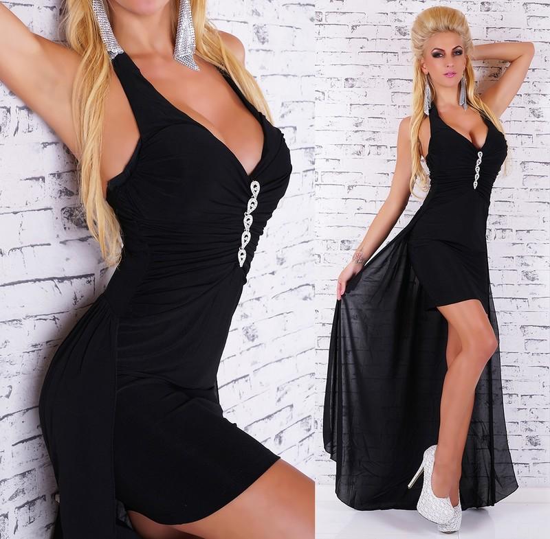 67740642e10b Černé šaty s vlečkou - EU - Večerní šaty a koktejlové šaty - i-moda.cz