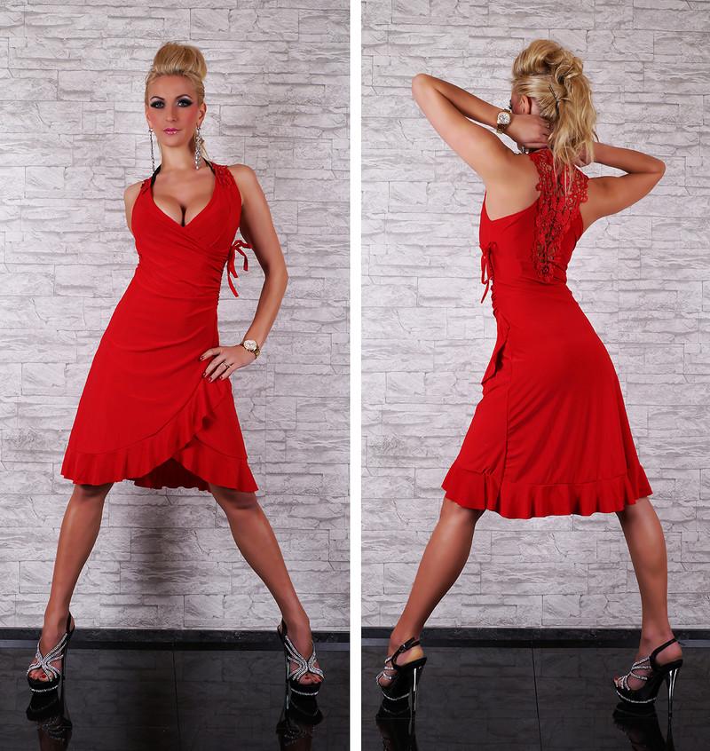7fc13abd1 Červené dámské šaty - Queen O.F. - Krátke letné šaty - vasa-moda.sk