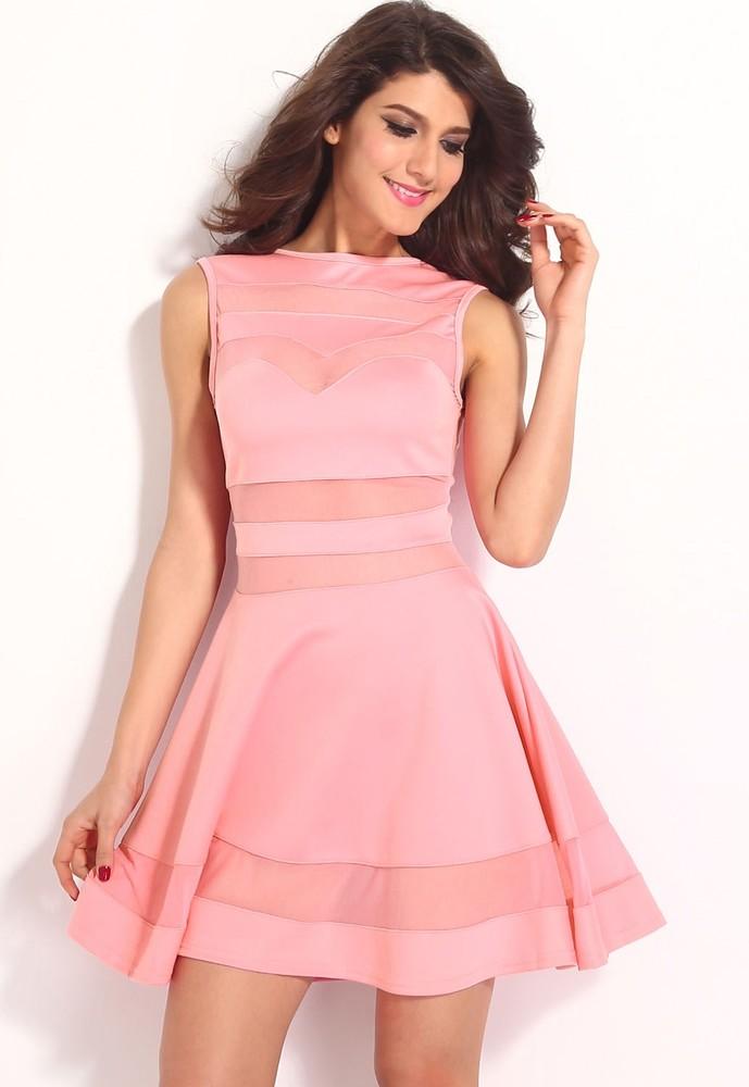 f4996446268a Ružové šaty do spoločnosti - DAMSON - Večerné šaty a koktejlové ...