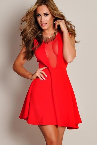 0ed1b677a769 Červené skater šaty - DAMSON - Večerné šaty a koktejlové šaty - vasa ...