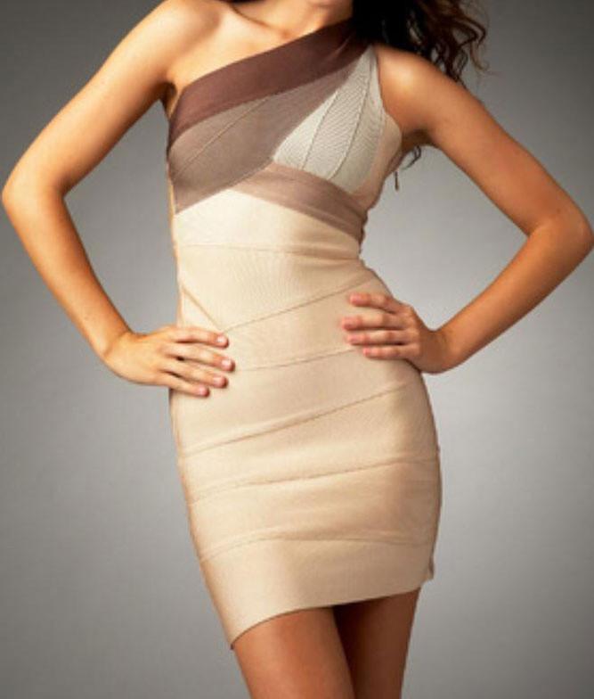 34243a14a284 Bandage šaty na jedno rameno - DAMSON - Zoštíhľujúci šaty - vasa ...