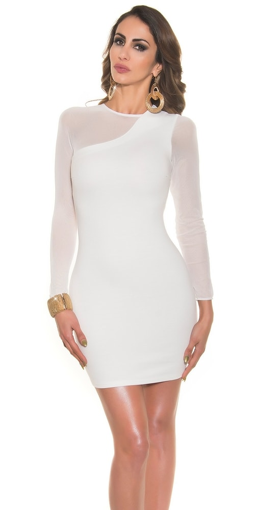 cce4ebdd6e86 Biele dámske elegantné šaty - Koucla - Večerné šaty a koktejlové šaty ...