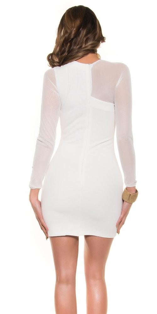 d39c65b7688b Biele dámske elegantné šaty - Koucla - Večerné šaty a koktejlové ...