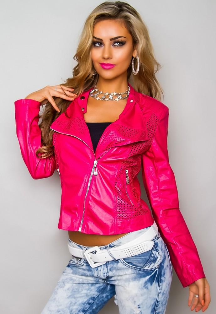 fdbbd5fe2b0a ... Bundy dámské jarní a podzimní ›  Stylová dámská bunda · růžová dámská  bunda