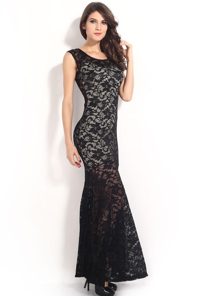 458a634b4119 Dlouhé krajkové šaty - DAMSON - Večerní šaty a koktejlové šaty - i ...