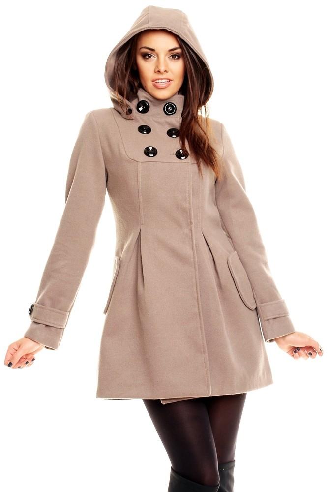 352f6917af Kabát zimní dámský - béžový. Domů ›  Dámské oblečení ›  Dámské kabáty › ...