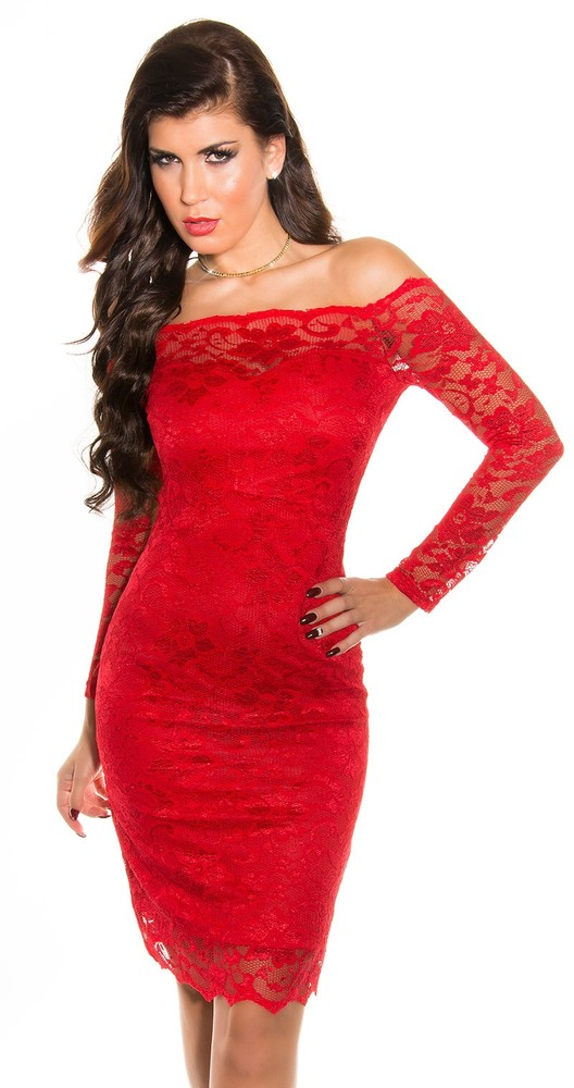 cd8192ec1c24 Spoločenské šaty - červené - Koucla - Večerné šaty a koktejlové šaty ...